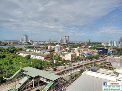 For RentCondoRama3 (Riverside),Satupadit : For RENT Lumpini Place Rama3 Riverview Studio 30sqm 14Fl Condo Near BRT Charoenrat