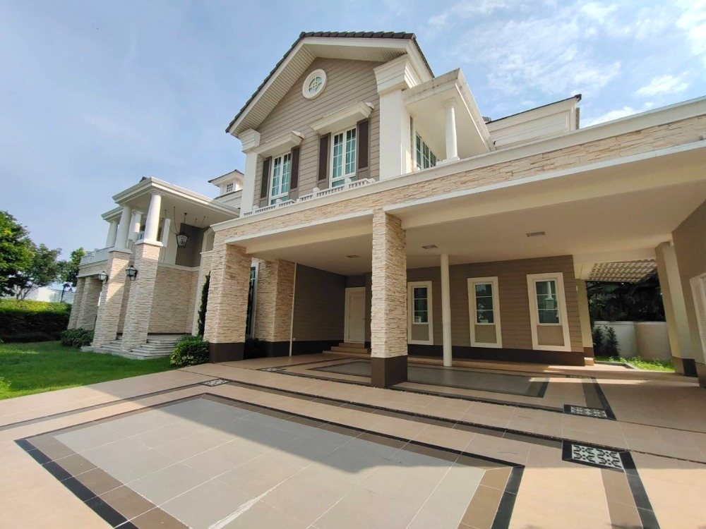 For SaleHouseBangna, Lasalle, Bearing : 2 storey luxury mansion for sale, area 206 sq m, 4 bedrooms, bathrooms, air conditioners, fully furnished. Bangna-Trad Road, near five mega bangna, price 69 million baht