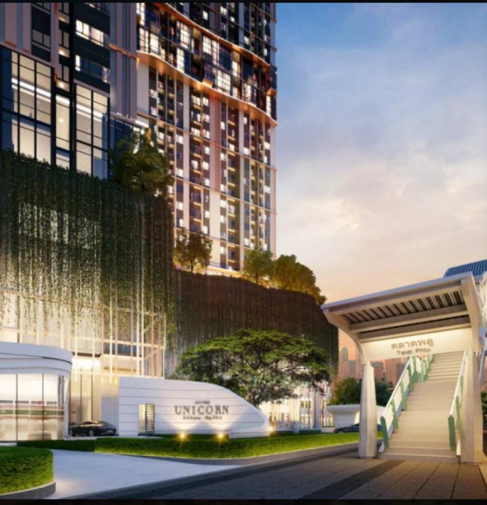 Sale DownCondoThaphra, Wutthakat : Sell down payment !! Condo next to BTS, Pool Market, Altitude Unicorn Sathorn-Tha Porn project, with a discount of 450,000 + Furniture + Digital Door Lock.