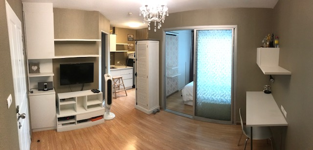 For RentCondoRama3 (Riverside),Satupadit : Condo for rent, beautiful decoration, ready to move in, The Trust Ratchada-Rama 3, 18th floor, Chao Phraya River view