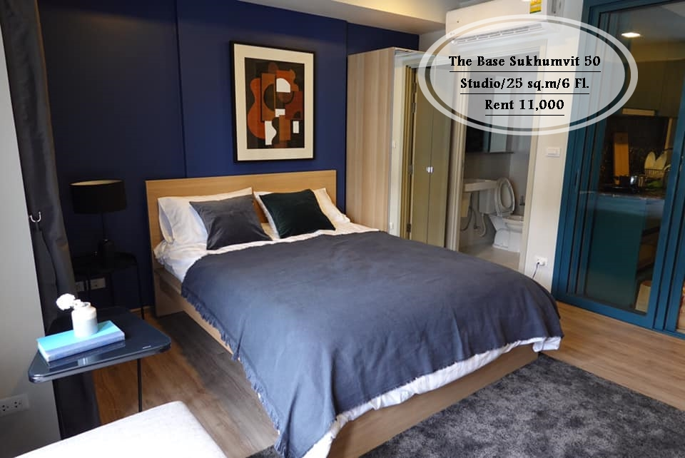 For RentCondoOnnut, Udomsuk : Rent-The Base Sukhumvit 50 / Studio / 25 sq.m. / Floor 6 near BTS On Nut Rent 11,000 baht