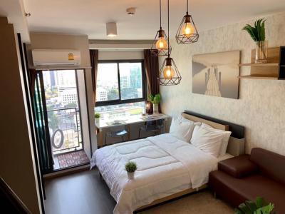 เช่าคอนโดอ่อนนุช อุดมสุข : For Rent IDEO Sukhumvit 93 ชั้นสูง วิวไม่บล๊อค@24Agency แถมฟรีบัตร BTS/MRT