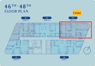ขายดาวน์คอนโดอ่อนนุช อุดมสุข : Skyrise 64 ห้อง Penthouse 3-bed 90.14 ตร.ม. Foreigner Quota เพียง 12.59 ล้าน วิวแม่น้ำ+โค้งบางกระเจ้า