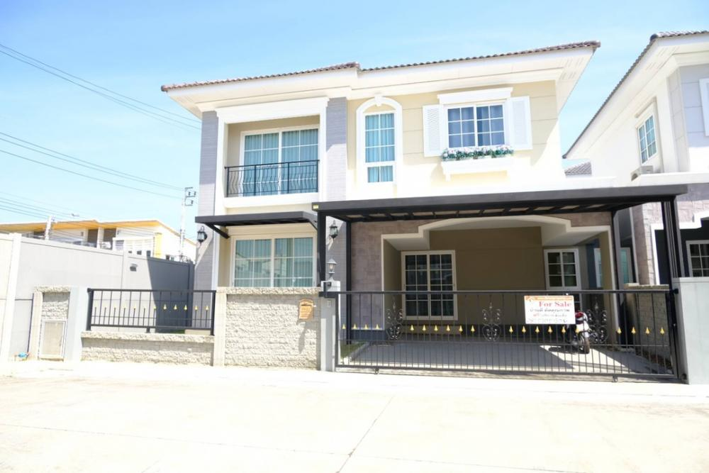 For SaleHouseLadkrabang, Suwannaphum Airport : 🔥 Urgent sale, receive all offers 🔥 Sale of 2-storey detached houses, Golden Neo 2 (GOLDEN NEO 2) Bangna-King Kaew, British style house, good condition, new house, full furniture Near Suvarnabhumi airport