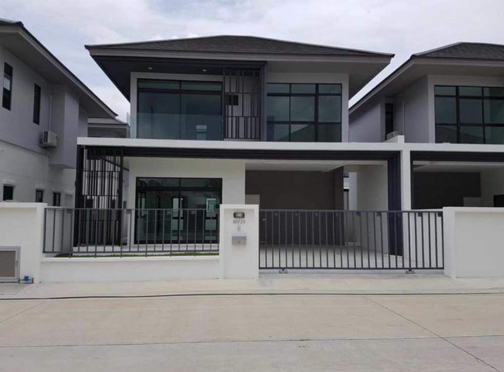 For RentHouseRamkhamhaeng,Min Buri, Romklao : House for rent Aura Lux Ramkhamhaeng 94 with 3 bedrooms, 3 bathrooms, 46 sq m. Nice house for rent 40,000 / month