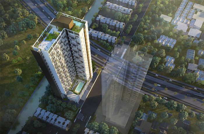 For SaleCondoNawamin, Ramindra : Blossom Condo at Fashion Beyond 1 bed Duplex 15th floor * sold cheaper than the project *