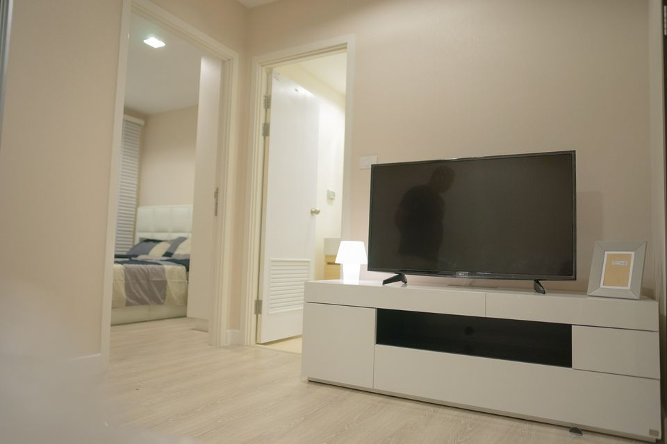 For RentCondoKasetsart, Ratchayothin : Condo for rent at Metro Lux Kaset, near Kasetsart University (there is a washing machine in the room)