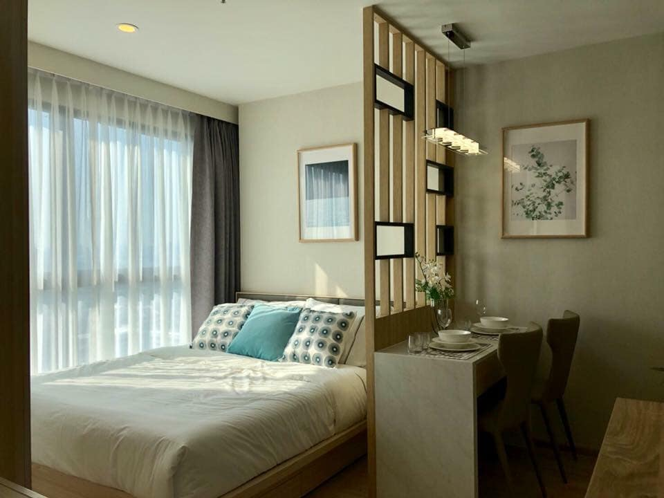 For RentCondoBangna, Lasalle, Bearing : Rental IDEO O2 Condo - Close to bts Bangna, Fully Furnis, New room, Kitchen implement, ready to move in!