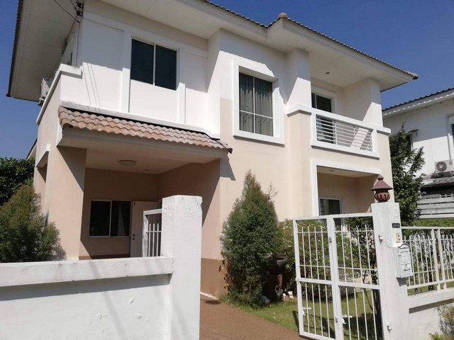 For SaleHouseNawamin, Ramindra : AE0383 2 storey detached house for sale, Lanceo, Ring Road - Ramindra, behind the corner, the price is lower than the estimate almost 2 million.