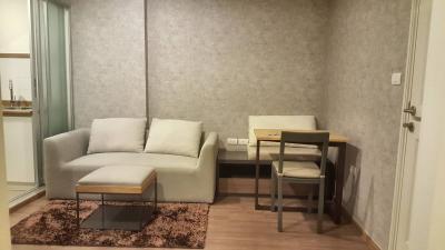 เช่าคอนโดรามคำแหง หัวหมาก : For Rent ยู ดีไลท์ @ หัวหมาก 33 ตรม ชั้น 19 กั้นนอน 10,000 บ. 064-959-8900