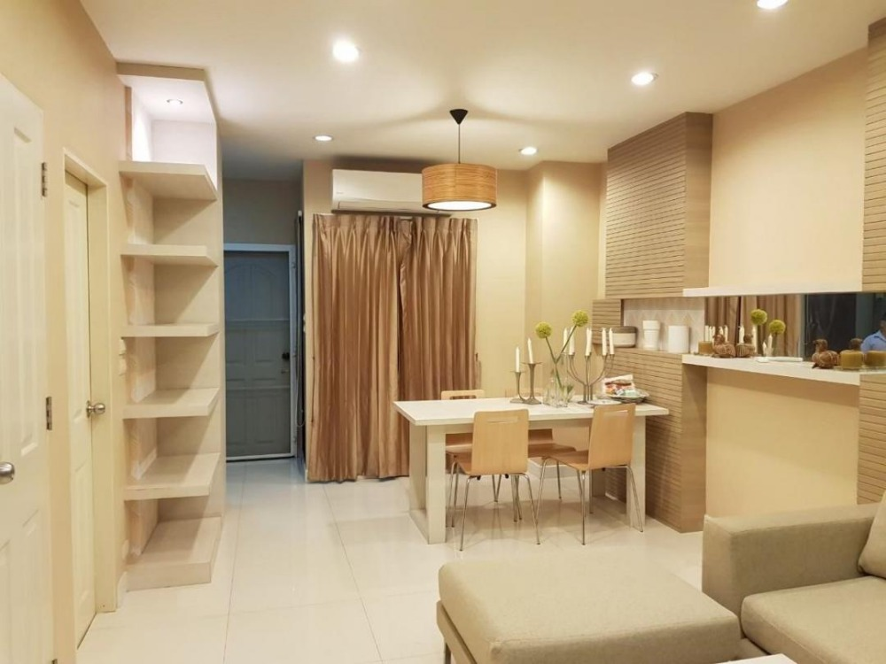 For RentTownhouseOnnut, Udomsuk : 3-storey townhome for rent, The Private Sukhumvit 97/1, fully furnished, ready to move in, suitable for living