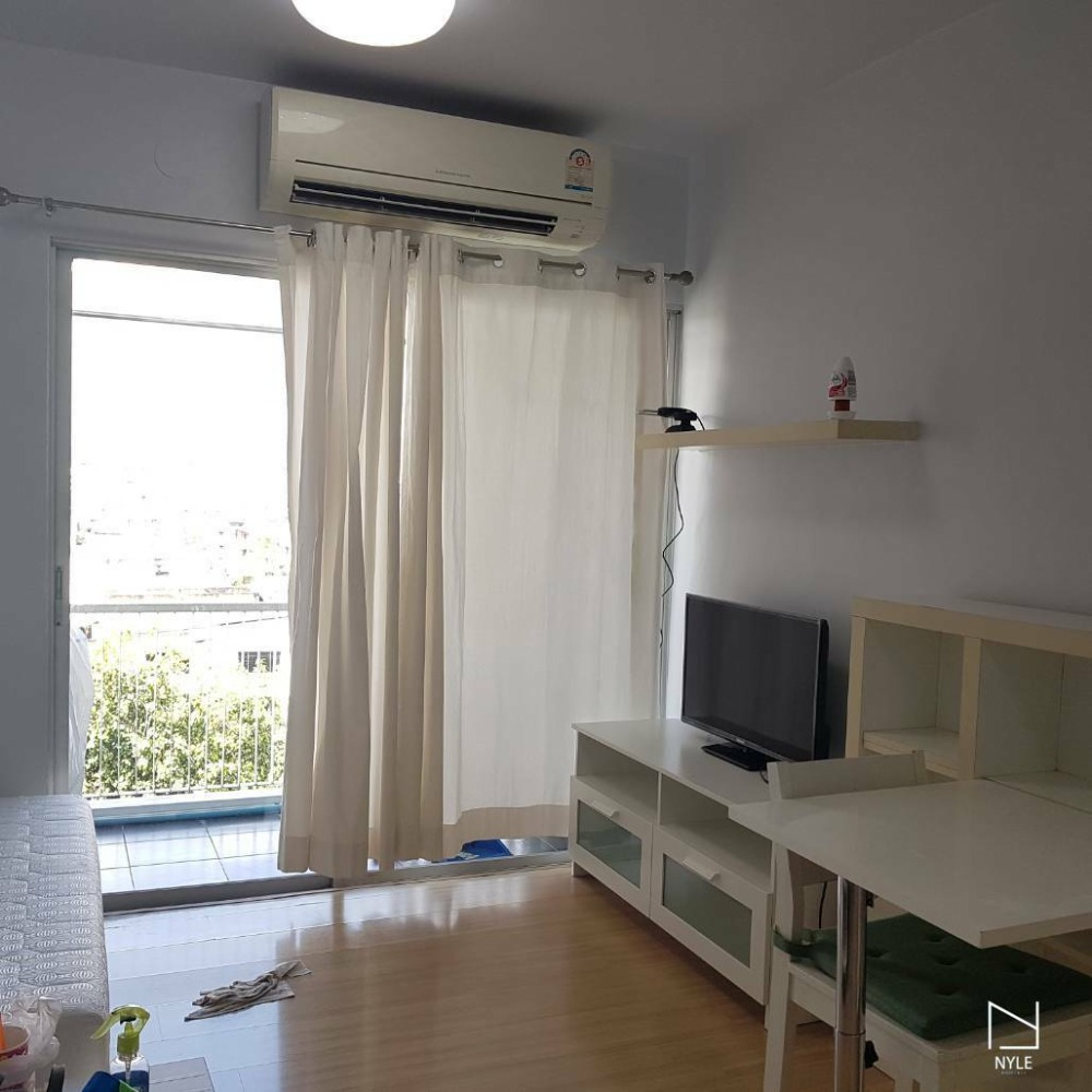 For RentCondoRama9, RCA, Petchaburi : For Rent: A Space Asoke-Ratchada, 1 bedroom 8th Fl. Near to MRT