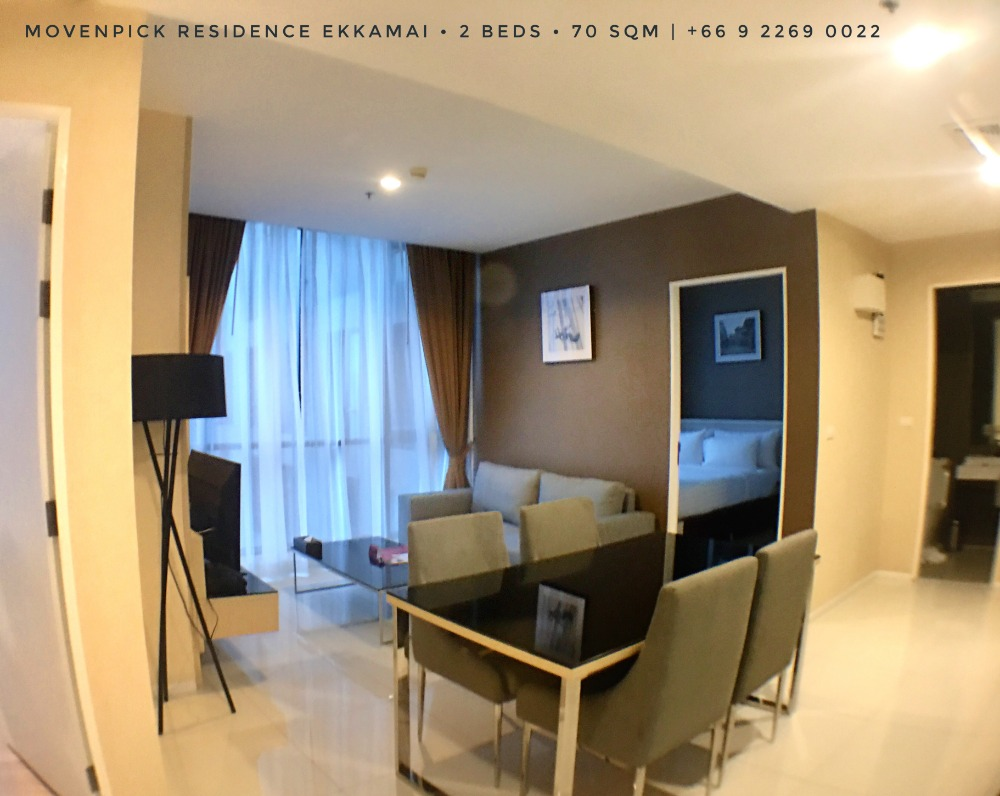For RentCondoSukhumvit, Asoke, Thonglor : **Special : Corporate Rate** : Movenpick Residence Ekkamai : 2 Beds & 1 Beds Available