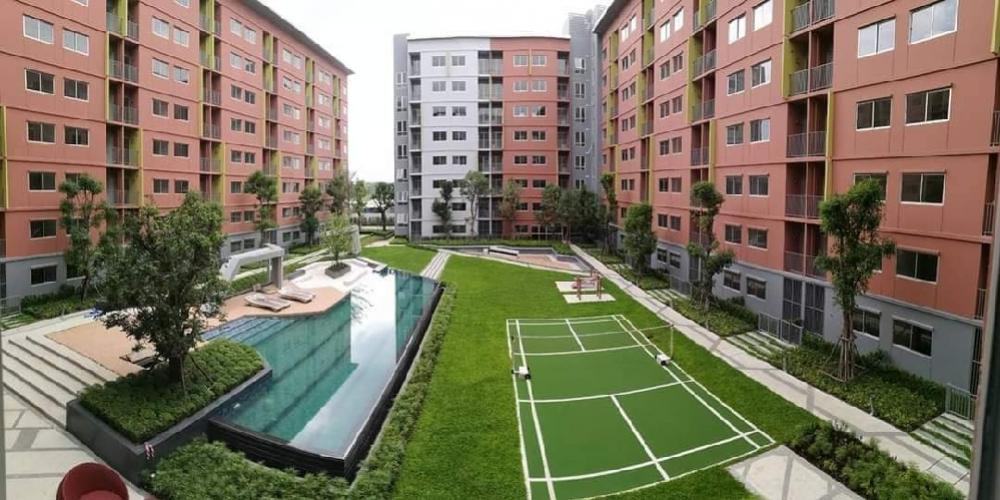 For RentCondoRangsit, Patumtani : For rent, Plum Condo Park Rangsit, pool view, fully furnished, complete electrical appliances, ready to move in You can drag just one bag. Only 750 meters from Bangkok University, you can walk to study 22 sq m, 3rd floor, Building D 💰 Rental price: 7,500