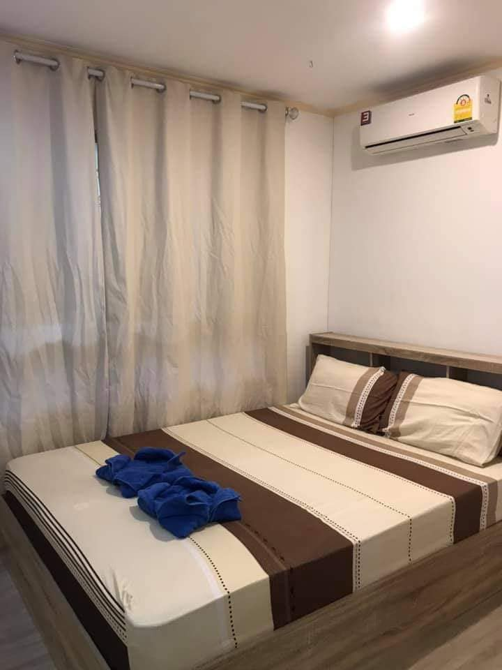 For RentCondoRatchadapisek, Huaikwang, Suttisan : For rent LPN Ville, Cultural Center, near MRT Huai Khwang, 2 bedrooms, ready to move in.