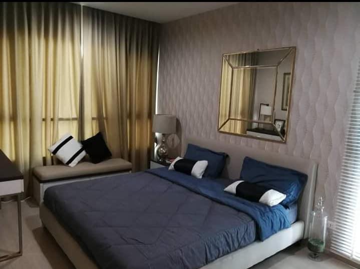 For RentCondoRatchadapisek, Huaikwang, Suttisan : Condo for rent, Life Ratchadaphisek, near MRT Huai Khwang, corner unit, 2 bedrooms, fully furnished.