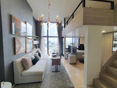 เช่าคอนโดพระราม 9 เพชรบุรีตัดใหม่ : ห้องสวยมากค่ะ ให้เช่า ชีวาทัย เรสซิเดนท์ อโศก แบบห้องDuplex 2 ชั้น ชั้น 16