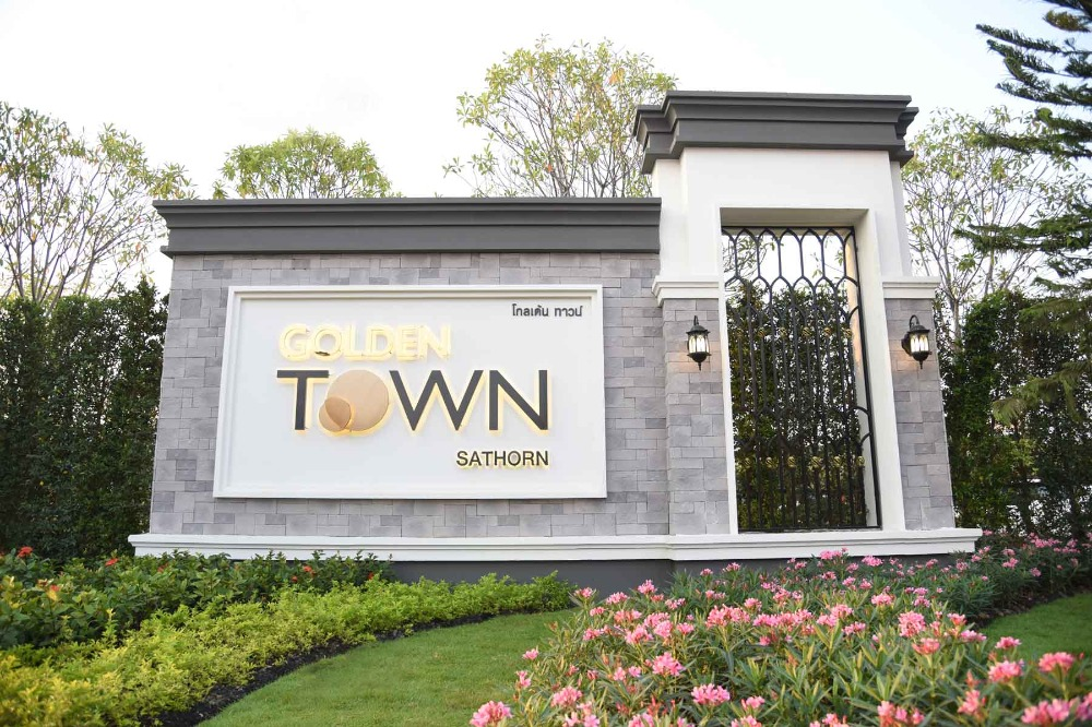 Sale DownTownhouseThaphra, Wutthakat : Sale down payment Golden Town Sathorn 2-storey townhome, urgent **** Sale down payment 550,000 baht ****