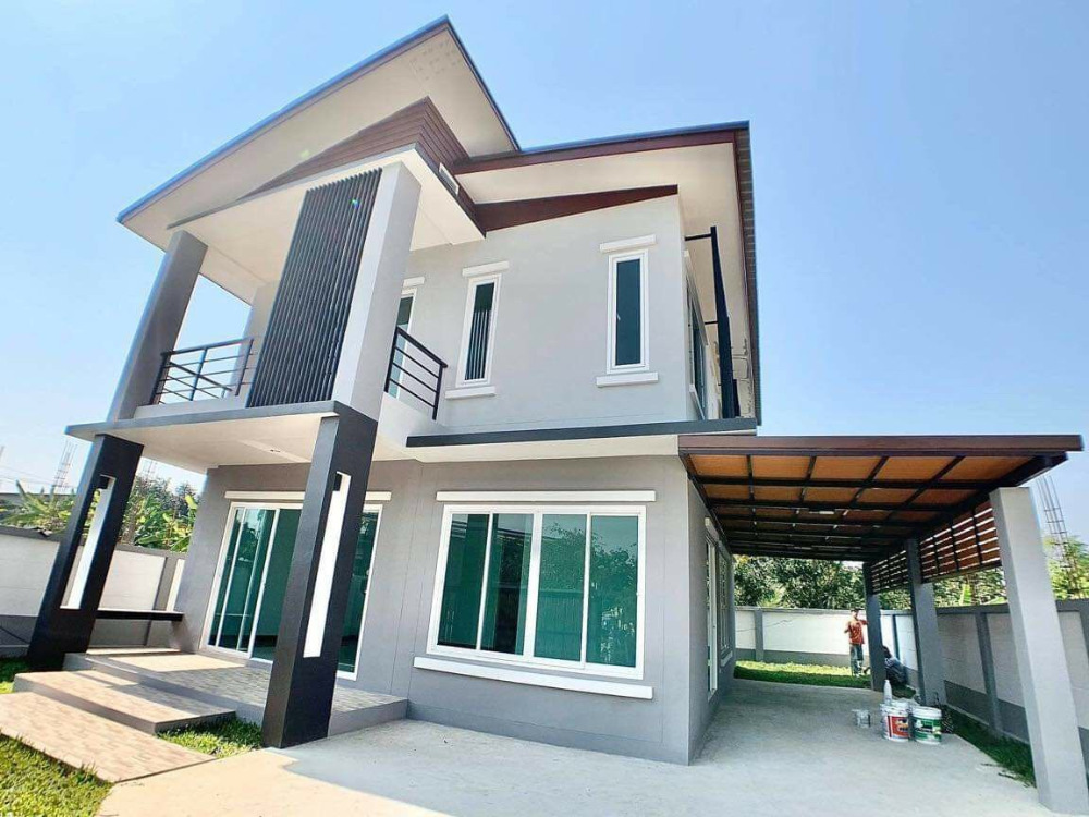 For SaleHouseChiang Mai, Chiang Rai : House for sale at Pa Daet, Muang District, Chiang Mai ???? Modern style 2-storey house next to the 3 ring ????