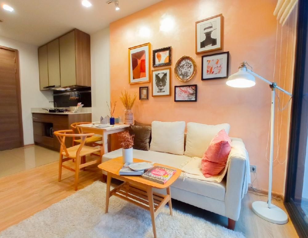 For RentCondoSapankwai,Jatujak : Very nice room 🔥 Condo for rent‼ THE LINE Phahon-Pradipat, near BTS Saphan Khwai, 1 bedroom, 1 bathroom, area 34 sq.m., floor 25, open view.