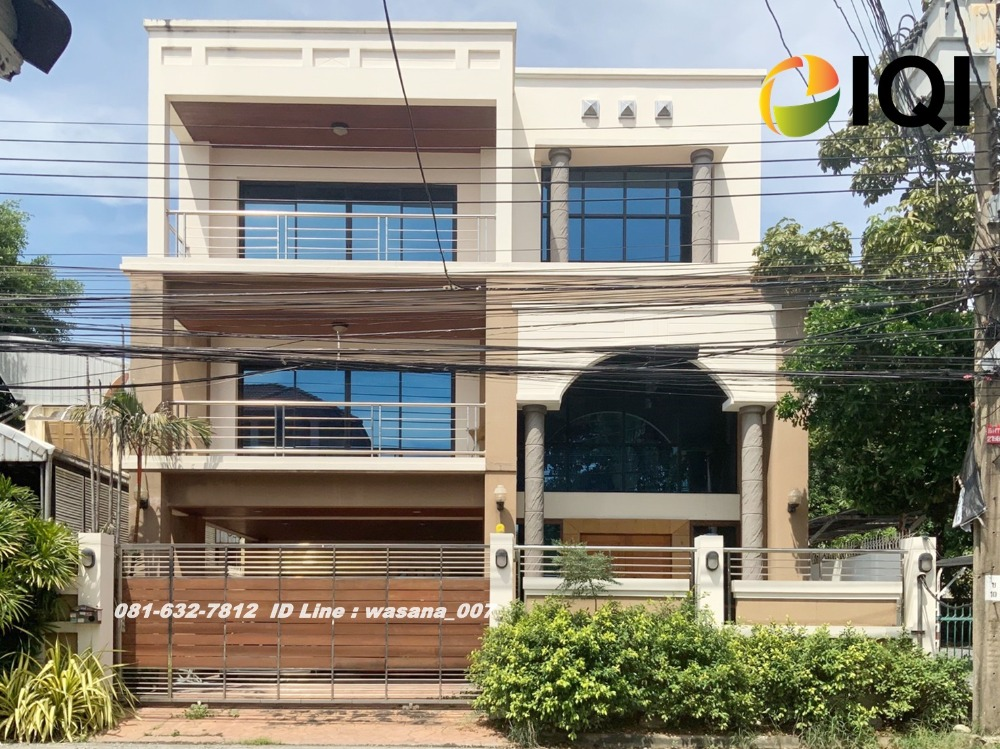 For SaleHouseKaset Nawamin,Ladplakao : 3 storey detached house for sale, built by ourselves, Soi Lat Pla Khao 66, Ramindra Road
