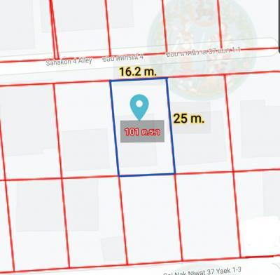ขายที่ดินลาดพร้าว71 โชคชัย4 : ขายที่ดินพร้อมบ้าน ซอยนาคนิวาส 37 เนื้อที่ 101 ตารางวา ทำเลและสภาพแวดล้อมดีมาก