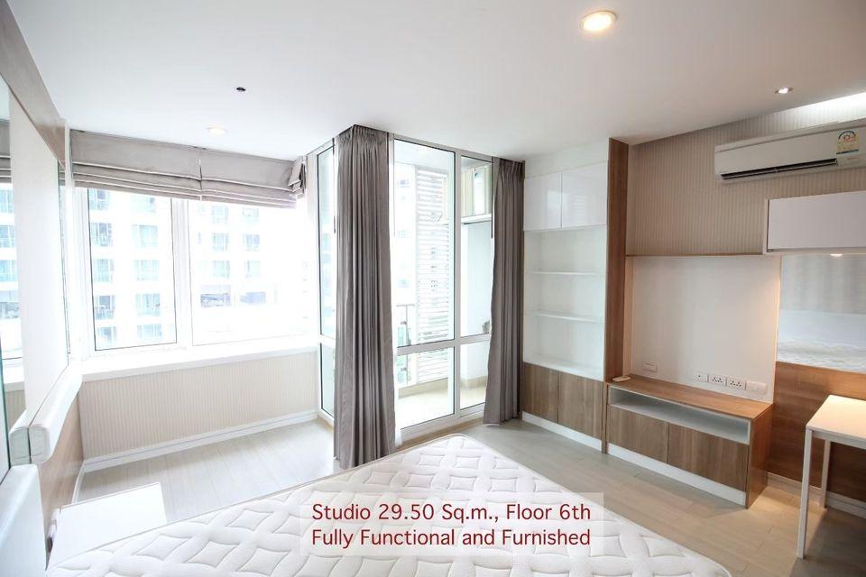 For SaleCondoRama9, RCA, Petchaburi : Condo for sale TC Green Rama 9 (Tc green condo) - Studio 1 bathroom