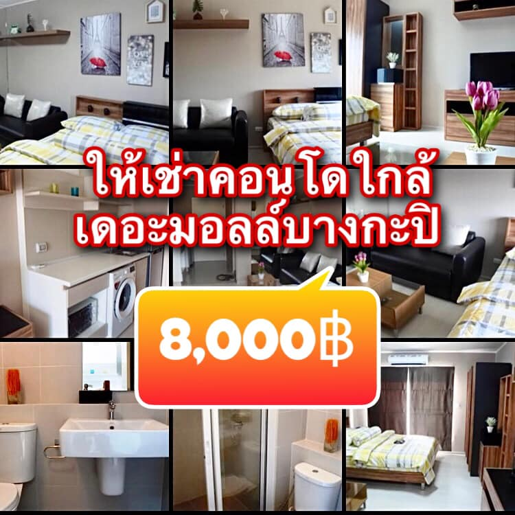 For RentCondoLadprao101, The Mall Bang Kapi : 🧚♂️ Condo for rent: Aspire Ladprao 113 only 8,000 / month 🧚♂️