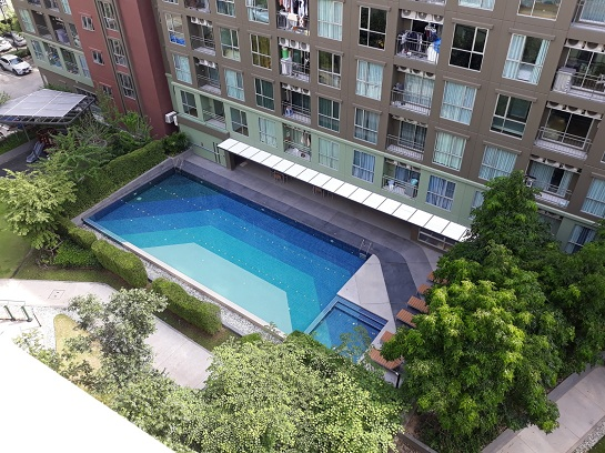 For SaleCondoBangna, Lasalle, Bearing : Beautiful condo with excellent location. Lumpinee Place Bangna Km. 3 behind Central Bangna
