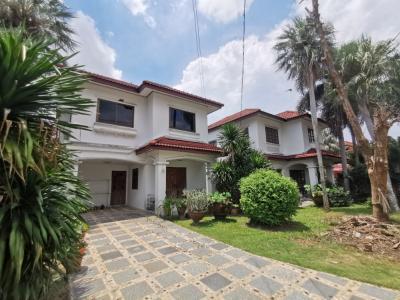 For SaleHouseRamkhamhaeng,Min Buri, Romklao : For sale, 2 detached houses with land 168 sq m. K.C. Garden Home suitable for large family
