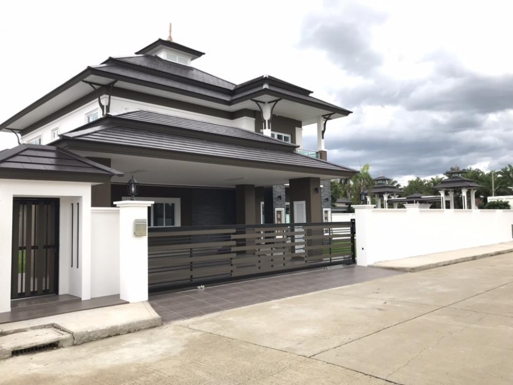 For RentHouseChiang Mai : Beautiful new big house for rent in Chiang Mai Sansaran Grand Tropicana village