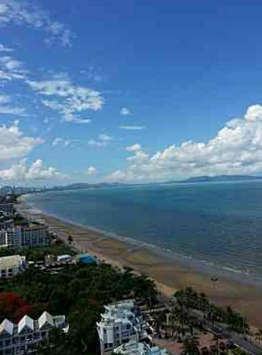 For SaleCondoPattaya, Bangsaen, Chonburi : For sale, Lumpini Park Beach Jomtien Condo, 2BR 2RR 57 sq.m. High floor, Front building, Sea view.