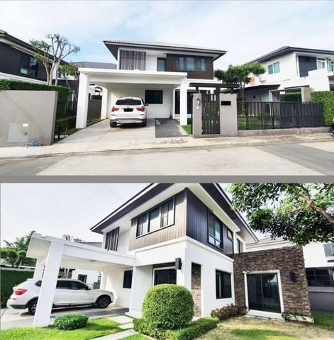 For RentHouseBangna, Lasalle, Bearing : 2 storey detached house for rent, 4 bedrooms, Manthana village, Bangna Km.7, near Mega Bangna, near expressway, animal husbandry