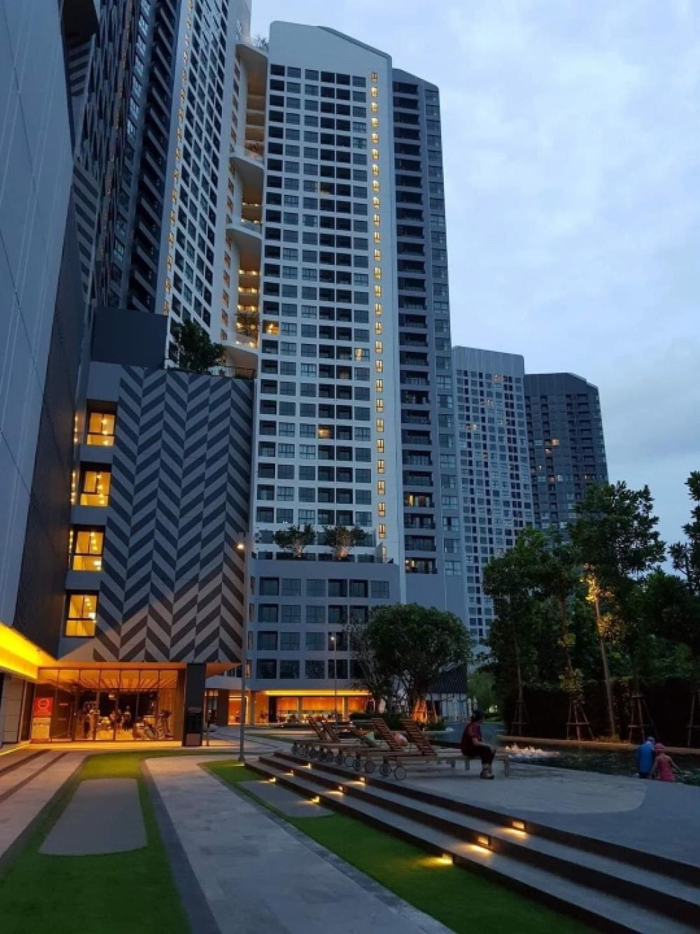 For RentCondoBangna, Lasalle, Bearing : NC-R264 Condo for rent, IDEO O2 (Ideo O2) Bangna, fully furnished room, clean, ready to move in, near BTS Bangna, 7th floor, Building C Type: Studio Size: 32 sq.m. ต Rent 9,500 baht / month ************************************************** ******** 📷 Ful