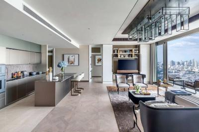 For SaleCondoWongwianyai, Charoennakor : Penthouse for Sale 379.24 sq.m. The Residences at Mandarin Oriental, Bangkok