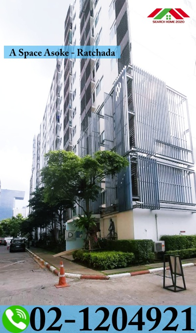 For SaleCondoRama9, RCA, Petchaburi : Condo for sale, A Space Asoke-Ratchada, 24.6 sq m., 6th floor, Building D, renovated, ready to move in.