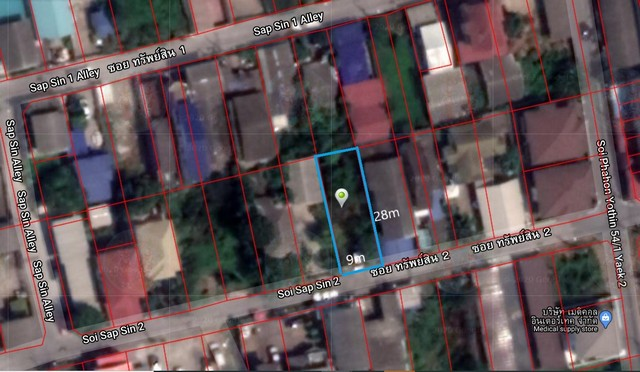 For SaleLandNawamin, Ramindra : Land for sale in Phaholyothin 54/1 Soi Property 2 near bts Saphan Mai