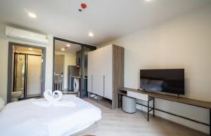 For RentCondoVipawadee, Don Mueang, Lak Si : New condo for rent, The Base Saphan Mai, there are many rooms to choose from, many lay out, new rooms, beautiful decorations. Next to the Green Line, Line Yud Station New furniture New appliances Good location on the road, convenient to travel