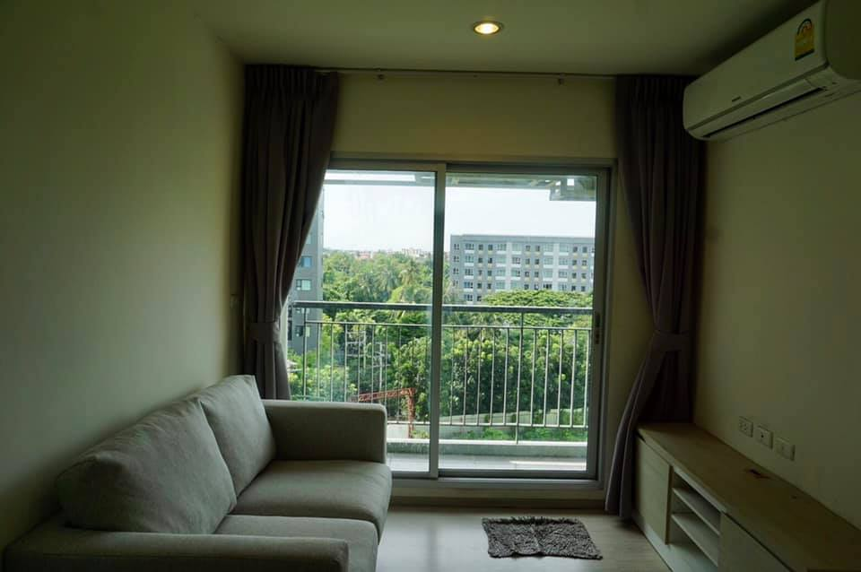 For RentCondoThaphra, Wutthakat : For rent, Aspire Sathorn-Taksin (Timber Zone), 2 bedrooms, 46 sqm, Floor 6 / 14,000B, near BTS.
