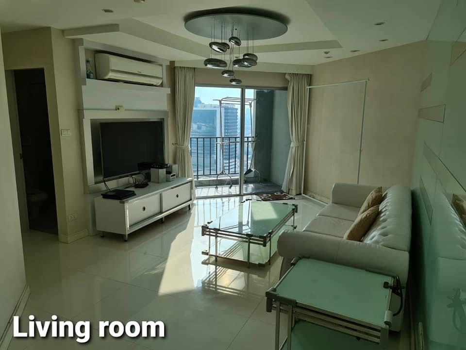 For RentCondoRama9, Petchburi, RCA : Hot Deal Rent 2 Bed 2 Bath 89 Sqm. Only 38K. With Nice decoration Belle Grand Rama9