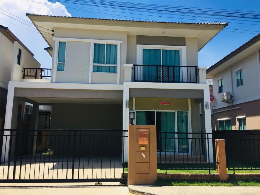 For RentHouseBangna, Lasalle, Bearing : 2 storey detached house for rent, Namdaeng district, Sumthon Prakan, Phatsorn Pride, Srinakarin - Namdaeng.