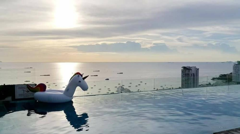 For SaleCondoPattaya, Bangsaen, Chonburi : TP24-0001 Centric Sea Pattaya Condo for sale / rent, beautiful room, just 600 meters from the beach, next to Pattaya 2nd road, very convenient to travel!