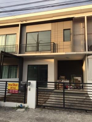 For SaleTownhouseBangbuathong, Sainoi : ‼ ️ Townhouse for sale, The Connect Rattanathibet-Ratchapruek, have money left.