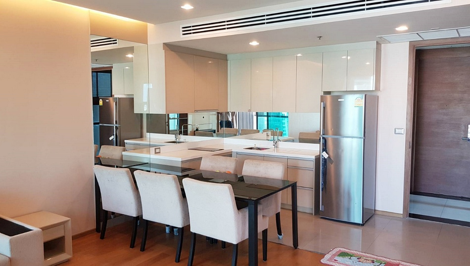 For SaleCondoSathorn, Narathiwat : Condo The Address Sathorn @BTS Chong Nonsi, 75.66 sq.m 2 Beds 2 Baths 19 FL, Clear View Corner Unit, Fully furnished