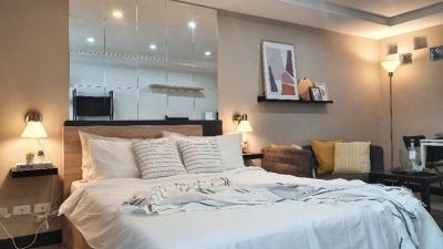 For RentCondoOnnut, Udomsuk : Rent a beautiful room, straight cover, lift bags, go in, Studio 7th floor, rent 7000 baht, Regent Home 4
