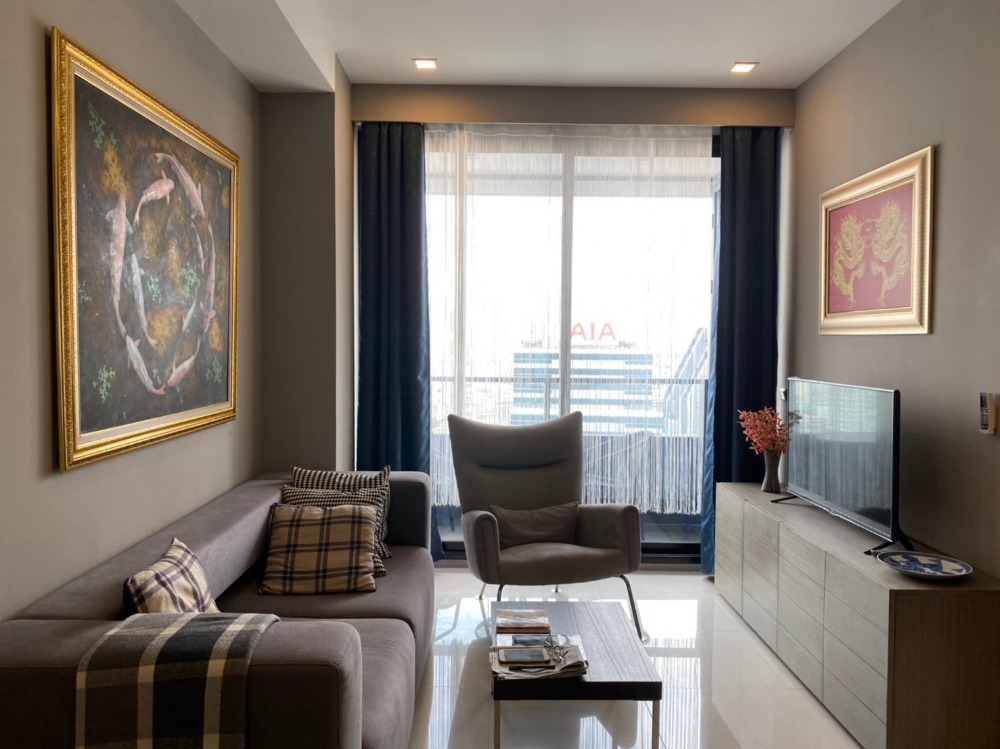 For RentCondoSilom, Saladaeng, Bangrak : for rent M Silom. 2beds 62sqm. Fully furnished. Ready to move in
