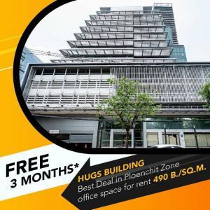 เช่าสำนักงานวิทยุ ชิดลม หลังสวน : Rental : Office and Space Rental in Plenjit ( Hugs Building by Sansiri ) , Sarasin Road and Lumpini Park , Rajadamri BTS & Chidlom BTS