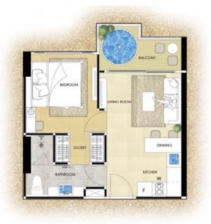 ขายคอนโดพัทยา บางแสน ชลบุรี : ขายด่วน 1 ห้องนอน พร้อมอ่างจากุซซี่ที่ระเบียง Riviera Oceandrive 3.89 ล้าน