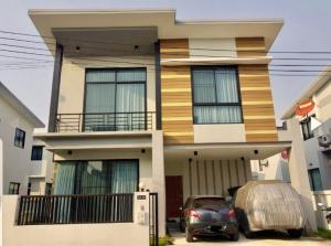For RentHouseRangsit, Patumtani : (++ For rent ++) 2-storey detached house, Cubic Village, 2 Klong 5, fully furnished, ready to move in.