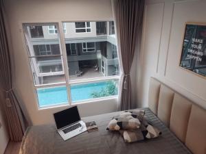 เช่าคอนโดอ่อนนุช อุดมสุข : ##  Regent Home Sukhumvit 97/1  #**ห้องวิวสระชัดๆ ตึกเดียวกับส่วนกลาง ใกล้ฟิตเนตLine : @condomangmum  ตำแหน่งห้องดีสุดๆ **